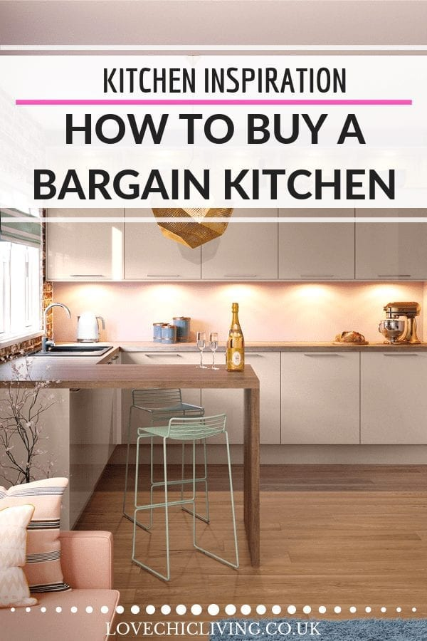 If you're planning a kitchen renovation and want to save money, grab a bargain kitchen in the sale! Don't miss out on a budget kitchen makeover - definitely grab a bargain at the right time of year #kitchenreno #budgetkitchen #kitchendesign #lovechicliving