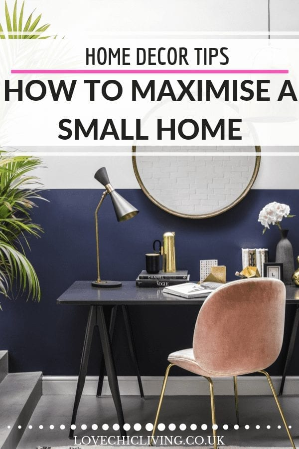 When you have a small home you need to make special plans to make the interior feel bigger. Check out these ideas for storage, clutter free and organized living. #smallhome #smallspace #smallhomedecor #smallhomeideas #lovechicliving