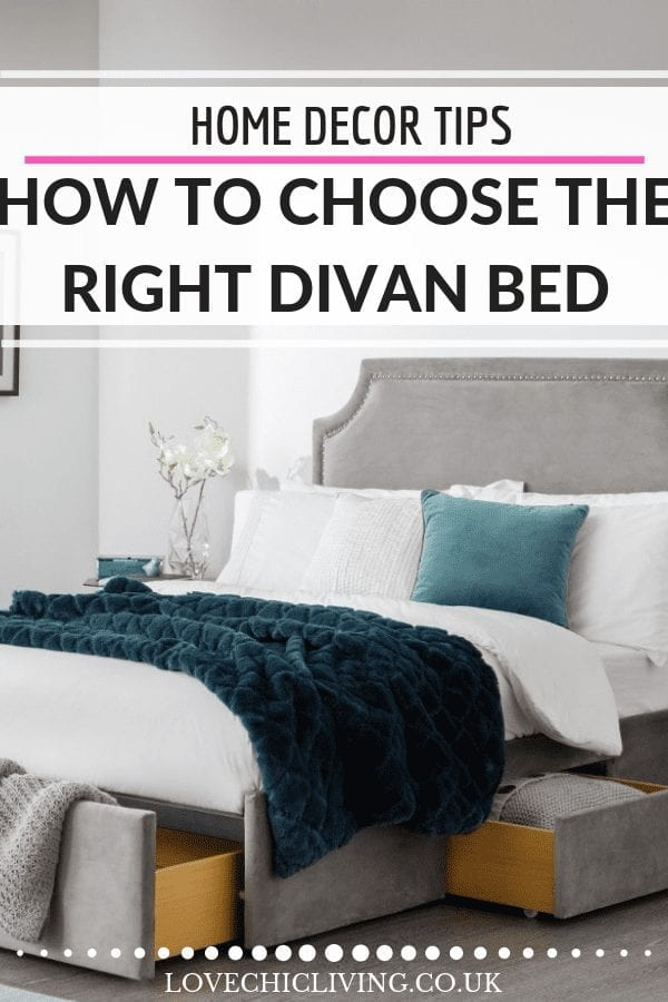 5 mistakes to avoid when buying a divan bed. Bedroom storage is essential and storage beds are the best way to improve yours. Whether you need a 4 drawer divan bed or a 2 drawer check out what to look for when purchasing a divan bed #divanbed #storagebed #bedbuyingtips #lovechicliving