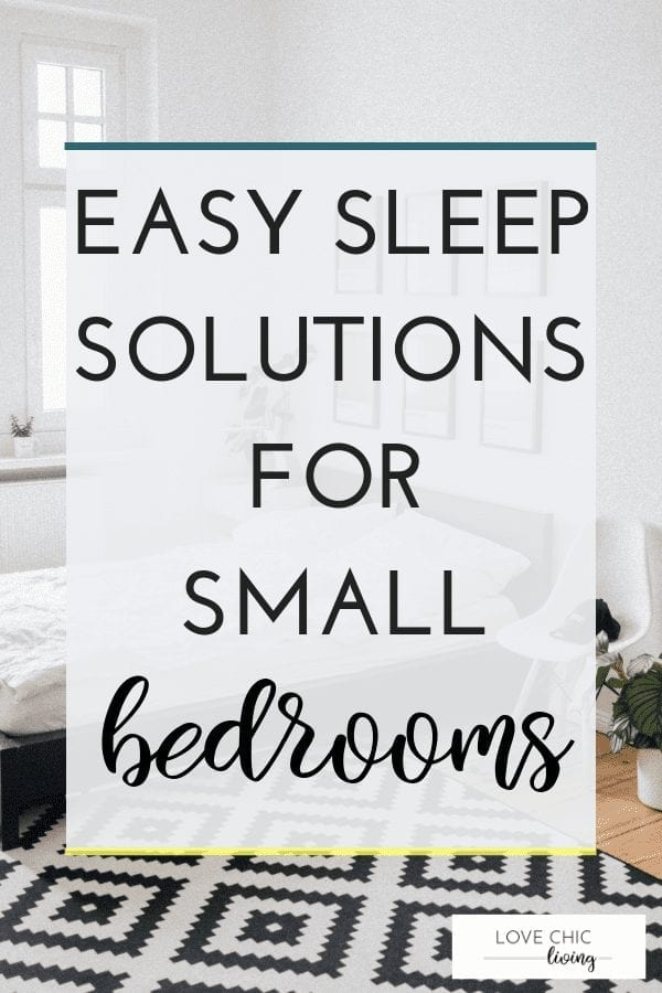 Easy ways to maximise the space in a small bedroom by using the right type of bed. From storage beds to large singles beds, or small double beds. There's a simple solution to making a small bedroom seem bigger #smallbed #beddesign #storagebed #smallrooms #lovechicliving
