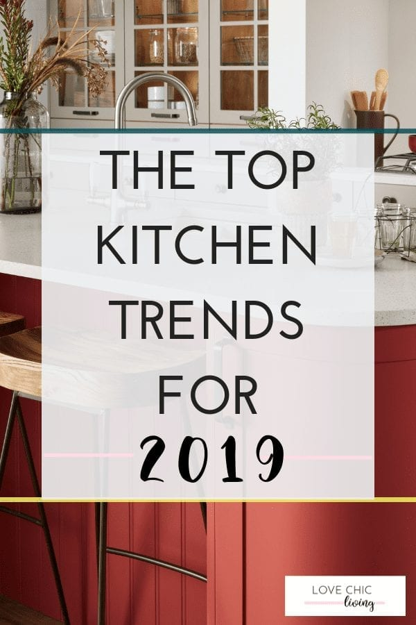 The latest kitchen trends 2019 when you want to add color to your cabinets or keep your interior design white and minimal. Check out these current, modern and timeless designs you and your family home will love #kitchentrends #kitchentrends2019 #monochromekitchen #countrykitchen #luxurykitchen #lovechicliving