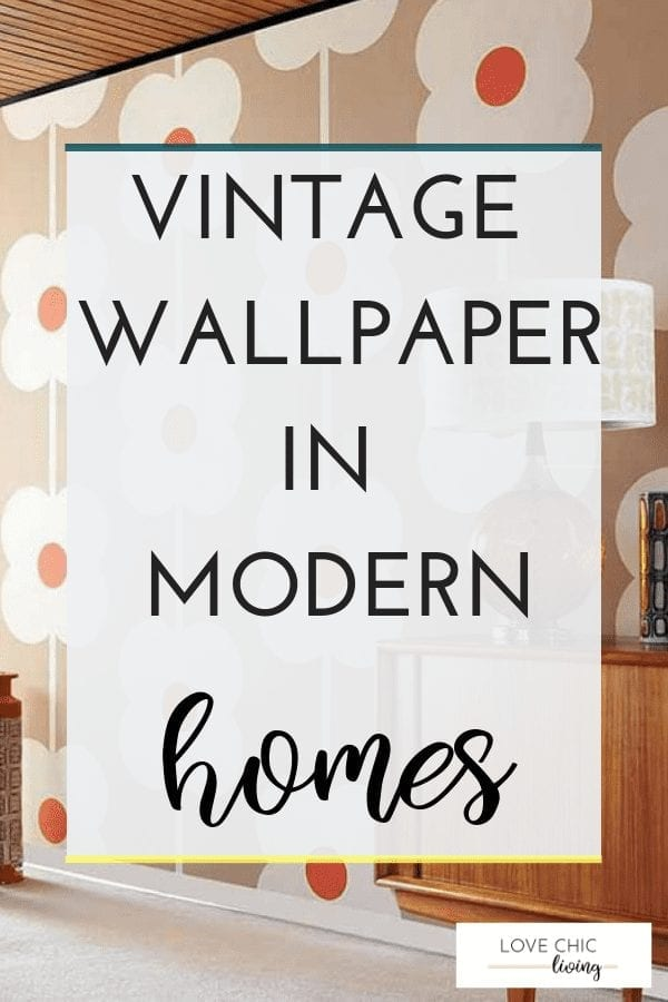 Whether you're after some retro, Victorian or 1950s vintage wallpaper, you need to know how to find it and how to look after it. The vintage designs are perfect for the modern home, look great in a bedroom and usually have a floral or geometric aesthetic. Check out more - click the image #vintagewallapaper #retrowallpaper #midcenturywallpaper #lovechicliving
