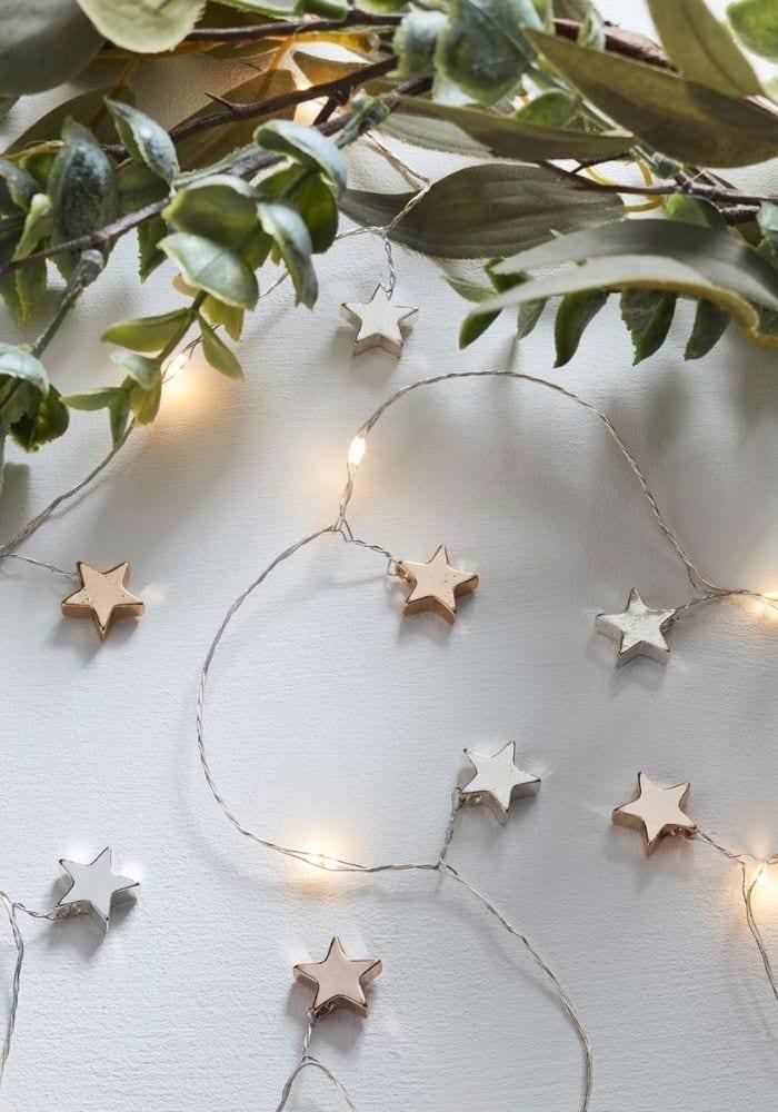 French christmas star lights