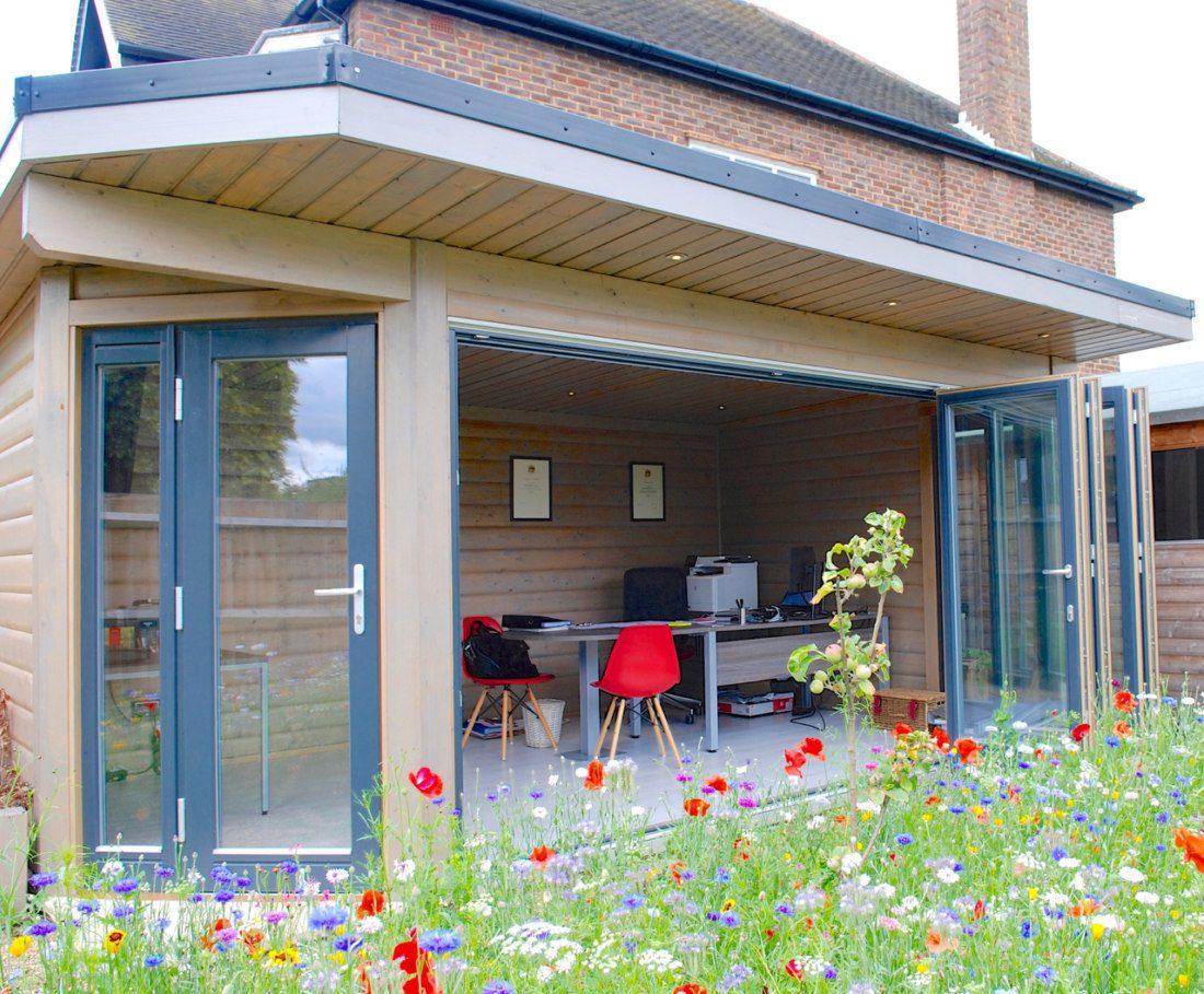 Choose a home office as a garden room idea